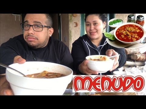 Hangover Cure: Authentic Mexican Menudo 🍜 mukbang/eating show Mexican Menudo Soup with bread