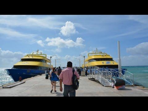 Ferry de Playa del Carmen a Cozumel - Mexico