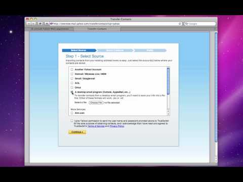 How to import contacts into Yahoo Mail