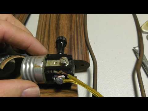How to Rewire a Lamp Replace Lamp Socket Rewire Lamp Cord Repair Fix DIY