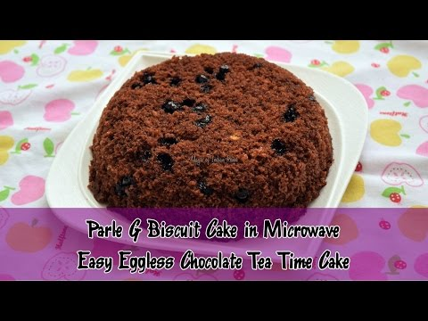 Parle G Biscuit Cake in Microwave | Easy Eggless Chocolate Tea Time Cake | Magic of Indian Rasoi