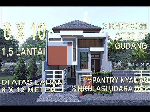 53 Gambar Denah Rumah 2 Lantai 6 X 10 HD Terbaru