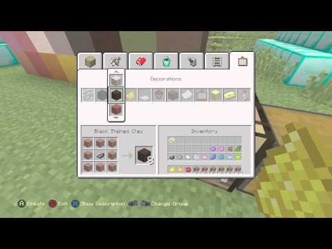 Minecraft (XboxOne/360/PS3/PS4) (TU19) - How To Make Stained Clay