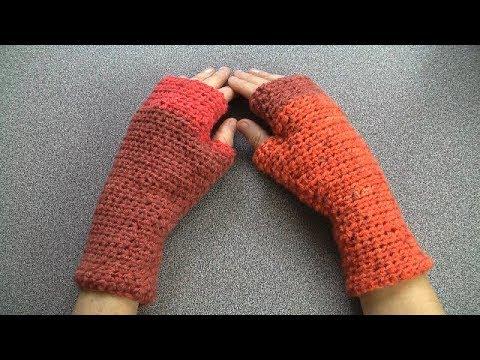 Crochet easy Fingerless Gloves