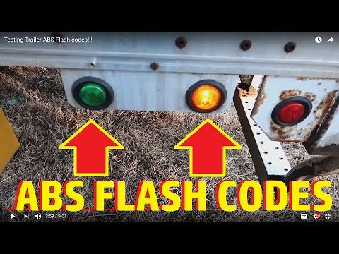 How to Test A Trailers ABS Flash codes!!!