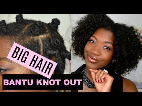 BIG Fluffy Bantu Knot Out | 4b Natural Hair | Feat As I AM  Long & Luxe Curl Enhancing Smoothie