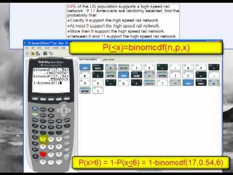 Binomial Probabilities and the TI 84