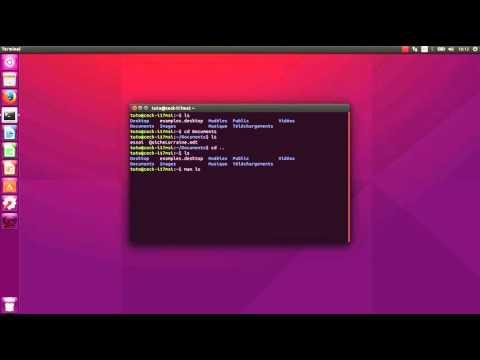 Utiliser la console (terminal) Ubuntu