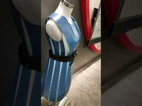 E - Ink's Automatic Self Styling Color-Changing Dress, Display Week 2017