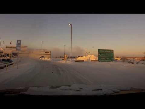 Yellowknife NWT Canada - Downtown to Airport HD