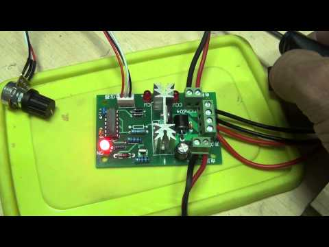 Reversible DC Motor Speed Control PWM Controller