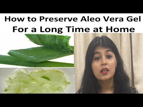 How to Store Aloe Vera Gel for Long time (Hindi) | How to Preserve Aloe Vera Gel at home