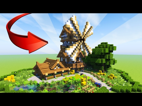MINECRAFT: How to build EPIC wooden house - Medieval Windmill Tutorial (Rustic) 2017