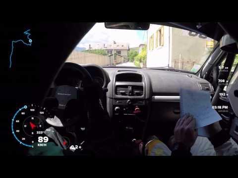 Rallye de la Matheysine ES3 DUCLAUX/VATTIER Clio Ragnotti N3 casse moyeu