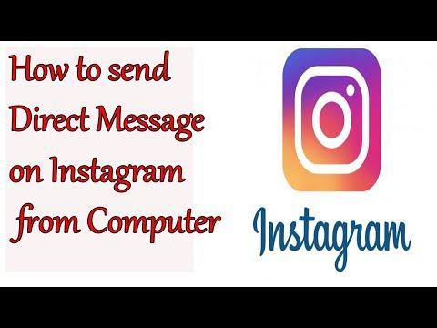 HOw to DM on Instagram Using Computer||How to Send Message on Instagram from PC