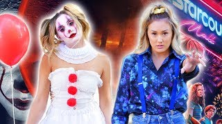 """DIY HALLOWEEN COSTUMES: """"Pennywise"""" It + """"Eleven"""" Stranger Things"""