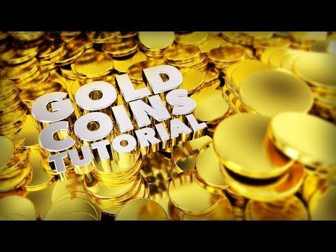 Blender Tutorial: How to make Gold Coins in Blender