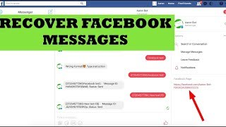 restore deleted facebook messages