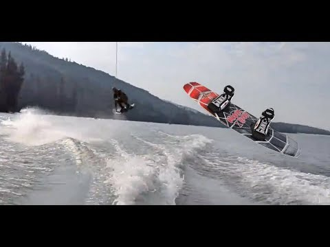 Learning How To Jump The Wake On Wakeboard!!!
