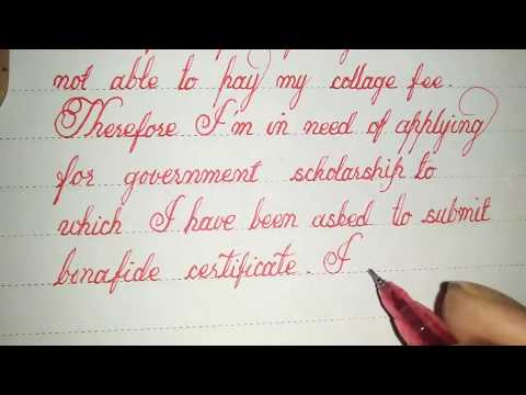 Bonafide certificate || how to write in cursive perfectly