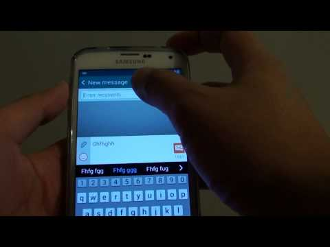 Samsung Galaxy S5/S4: How Change Text Massage Font Size Using Volume Key