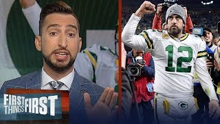 Nick Wright reacts to Packers' win over Lions after controversial calls | NFL | FIRST THINGS FIRST