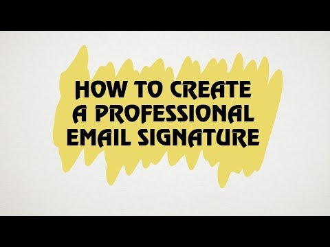 How to create a professional email signature.Gmail