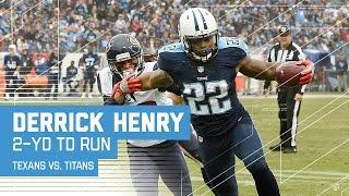 Derrick Henry Breaks To The Outside For A Td Run Texans Vs Titans Nfl