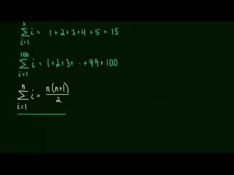 4.2 Summation Formulas and Sigma Notation