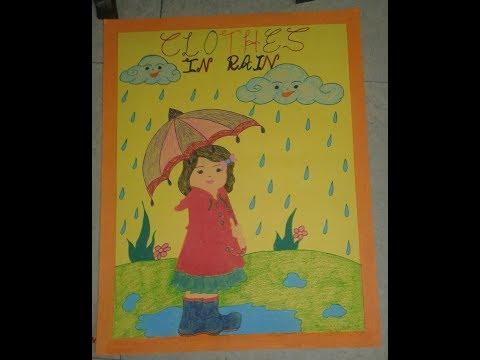 BEAUTIFUL CHARTS  FOR SCHOOL PROJECT easy craft work  rainy season,math chart,punjabi chart