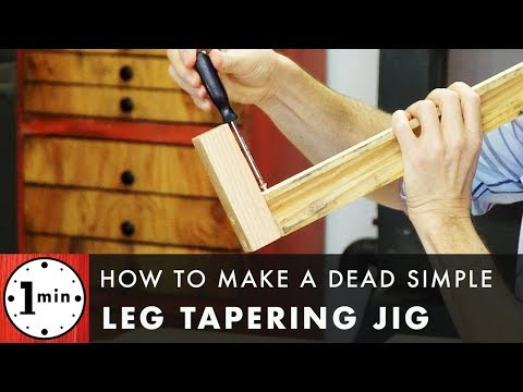 How to Make a Dead Simple Leg Tapering Jig