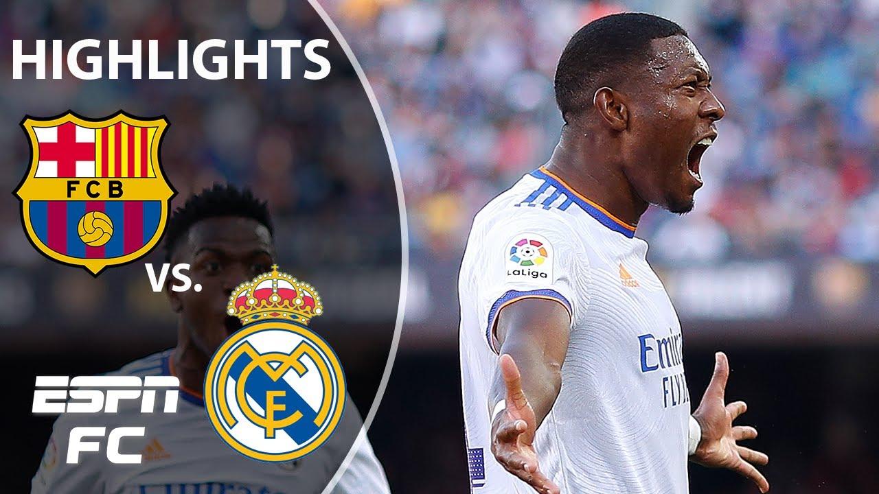 Alaba's El Clasico rocket helps Real Madrid win 2-1 vs. Barcelona | LaLiga Highlights | ESPN FC
