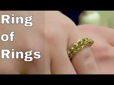 Handmade Chainmail Ring | An Easy Gift or Christmas Present