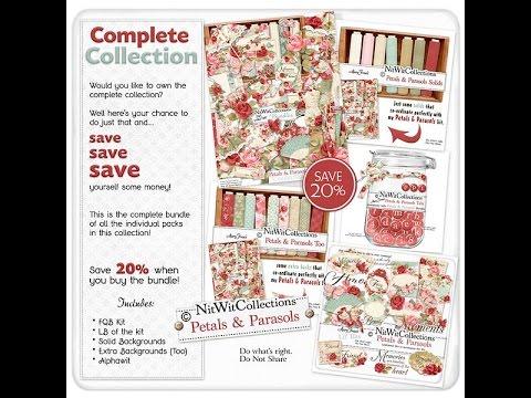 Petals & Parasols Digital Scrapbooking Kit and Card Making Kit | Nitwit Collections™
