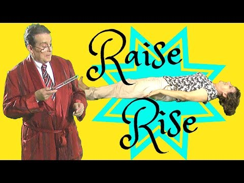 Raise and Rise - Transitive and Intransitive verbs