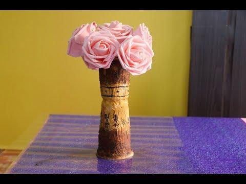 Diy vase using disposable glasses   flower vase using plastic glasses 