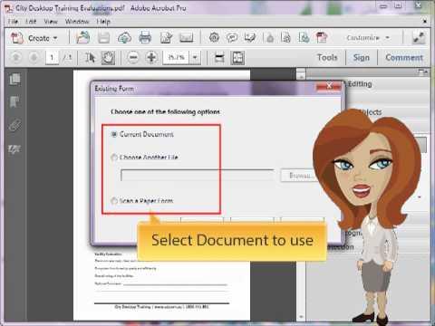 Adobe Acrobat - Auto-Detect Form Fields