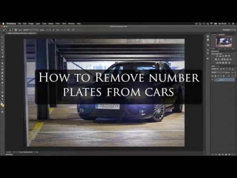 How to remove a reg plate in photoshop