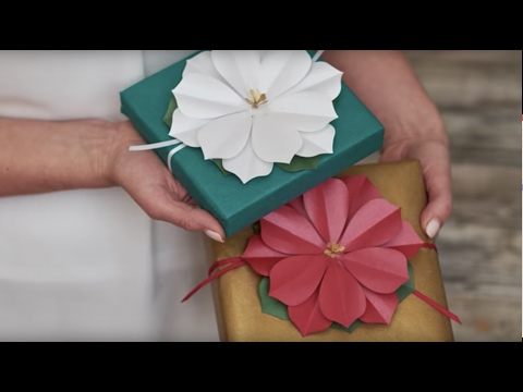DIY Paper Poinsettias - Lia Griffith Holiday Flowers & Greens for JoAnn Fabric & Craft Stores