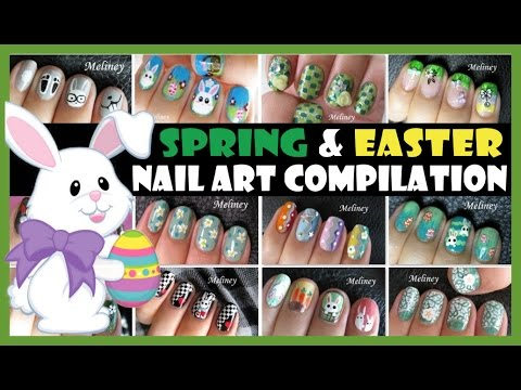 SPRING & EASTER NAIL ART COMPILATION | MELINEY HOW TO TUTORIAL DESIGNS
