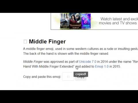 How to Show Middle Finger  In Facebook