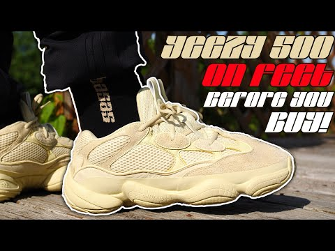 """""""SUPER MOON YELLOW"""" YEEZY 500 ON FEET/REVIEW! WATCH BEFORE YOU BUY!"""