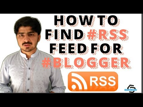 How To Find RSS Feed URL of My Blogger Website (HINDI)