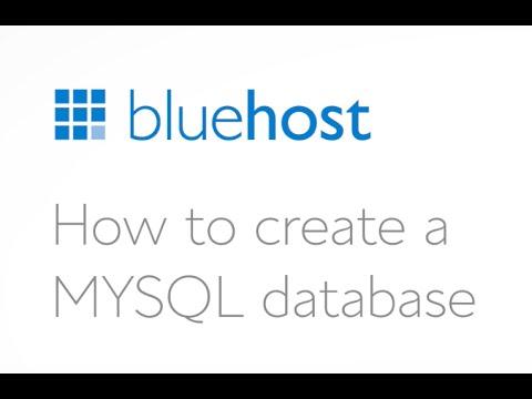 How to Create a MYSQL Database