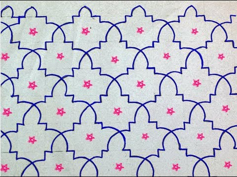 Sashiko Embroidery // Quilt Design Tutorial-24- For Very Beginners
