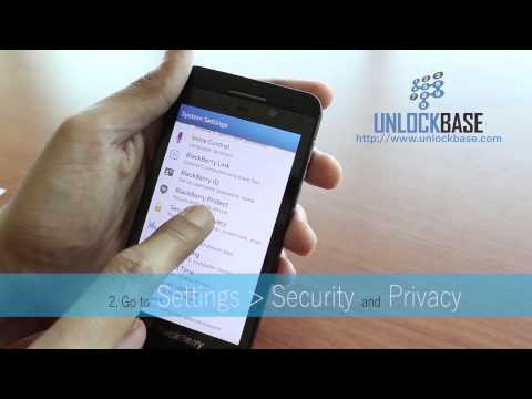 How to Enter Unlock Code in BlackBerry Z10