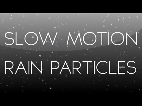 After Effects Tutorial: Slow Motion Rain Particles