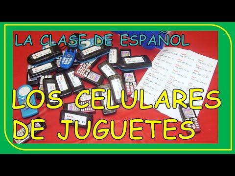 Let's speak Spanish. Good activity for class. The toy telephones