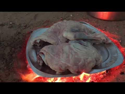 شوي لحم على الطريقة البرية #مدفونه
