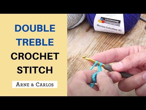Double treble crochet stitch - How to crochet by ARNE & CARLOS